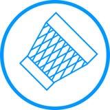 Abfalleimer-Vektor-Linie Ikone Lizenzfreie Abbildung