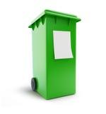 Abfalleimerabfall, der grünen fahrbaren Behälter vier sortiert lizenzfreie abbildung