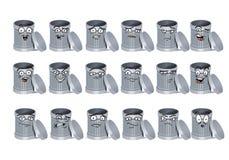 Abfalleimeravatara-Ikonensatz Lizenzfreies Stockbild