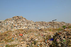 Abfallhaufenproblem der Verschmutzung Lizenzfreie Stockfotos