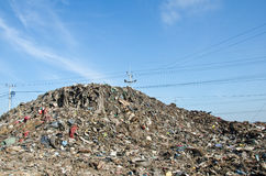Abfallspeicherauszug des Aufschüttungabfalls. Stockfotos