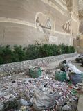 Abfallstadt in Kairo, Ägypten Lizenzfreie Stockfotografie