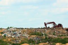 Abfallstapel im Abfalldump oder -müllgrube Stockbild