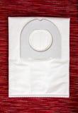 Abfalltasche für den Staubsauger stockbilder