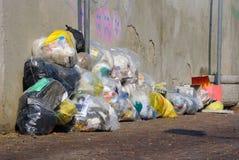 Abfalltaschen stockfoto