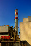 Abfallverbrennungsofenladen Stockfoto