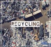 Abfallwirtschaft wiederverwertung Ansichtmüllgrubenvogel ` Saugenansicht land Stockfotografie