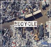 Abfallwirtschaft wiederverwertung Ansichtmüllgrubenvogel ` Saugenansicht land Stockfoto
