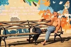 Abfangen der Strahlen in der Coney-Insel Lizenzfreie Stockfotografie