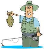 Abfangen eines Fisches Stockfotos