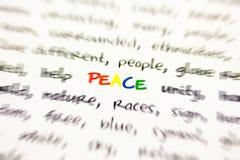 Abfassen Sie Frieden n Lizenzfreie Stockfotografie