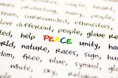 Abfassen Sie Frieden n Stockfotografie