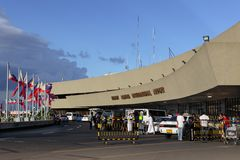 Abflug des Manila-internationalen Flughafens Lizenzfreie Stockfotos