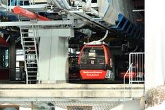Abflugpunkt für Drahtseilbahnen in Kitzbuhel Lizenzfreies Stockfoto