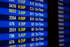 Abflugvorstand am Flughafen Lizenzfreies Stockbild