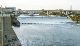 Abflusskanal auf Mississippi Stockbild