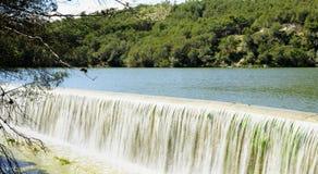 Abflusskanal der Foix-Verdammung Stockfotos