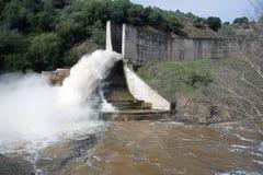 Abflusskanal der Verdammung des Yeguas Stockbilder