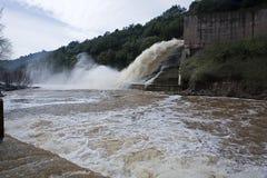 Abflusskanal der Verdammung des Yeguas Stockfoto