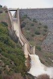 Abflusskanal der Verdammung des Yeguas Stockfotos