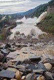 Abflusskanal der Verdammung des Yeguas Stockfotografie
