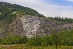 Abflusskanal WAC Bennett Dam Stockfotos