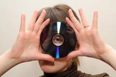 Abflussrinne blanc CDdiskette stockbilder