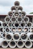 Abflussrohr Abwasserrohre benutzt für Entwässerungsbau Lizenzfreie Stockfotografie