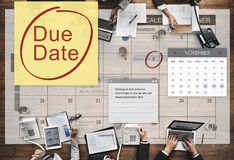 Abgabefrist-Fristen-Zahlung Bill Important Notice Concept Stockfotos