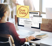Abgabefrist-Fristen-Zahlung Bill Important Notice Concept Stockbild