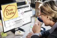 Abgabefrist-Fristen-Zahlung Bill Important Notice Concept Lizenzfreies Stockfoto