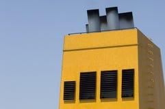 Abgasanlage auf Fähre Lizenzfreie Stockfotos
