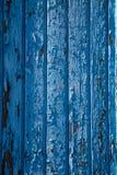 Abgebrochene blaue Farbenwandbeschaffenheit Stockfotografie