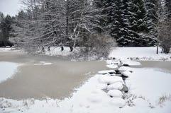 Abgedeckt im Schnee Lizenzfreies Stockfoto