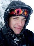 Abgedeckt mit Schnee Stockbild