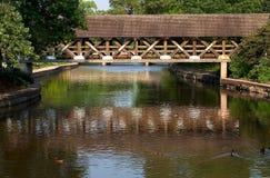 Abgedeckte Brücke stockfotos