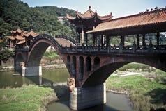 Abgedeckte Brücke, China Stockbild