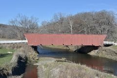 Abgedeckte Brücke des Hogback Stockfotos