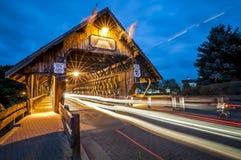 Abgedeckte Brücke in Frankenmuth Michigan Lizenzfreies Stockbild