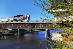Abgedeckte Brücke, Lovech, Bulgarien lizenzfreie stockfotografie