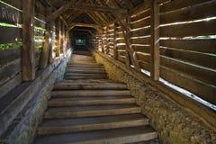 Abgedeckte Treppen Stockfotos