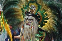 Abgedeckter Mann am Karneval Lizenzfreies Stockfoto