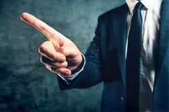 Abgefeuert vom Job, Bürovorsteher erhalten, der Ausweg zeigt Lizenzfreies Stockfoto