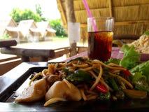 Abgefeuerte Fische, thailändisches Lebensmittel Stockbilder