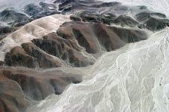 Abgefressene Berge Stockbilder