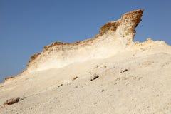 Abgefressene Felsen in der Wüste Stockbilder