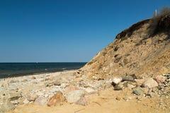 Abgefressene Küstenlinie Stockfotografie