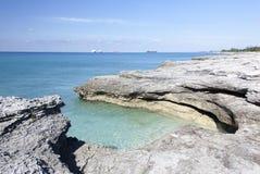 Abgefressene Küstenlinie Stockbilder