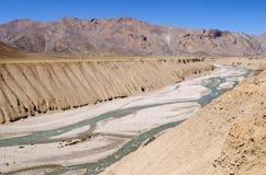 Abgefressene Landschaft mit Fluss 3 Lizenzfreie Stockbilder