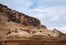 Abgefressene Westküste von Fuerteventura Stockbild